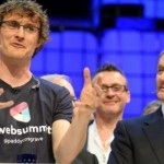 """An animated Paddy Cosgrove with Enda Kenny at the Web Summit"""