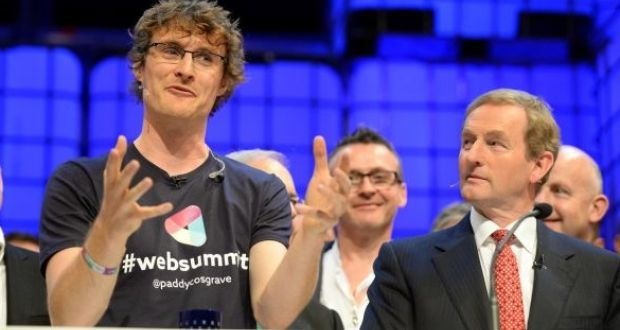 """Paddy Cosgrove with Enda Kenny at the Web Summit"""