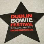 Dublin Bowie Festival black star logo in plastisol ink