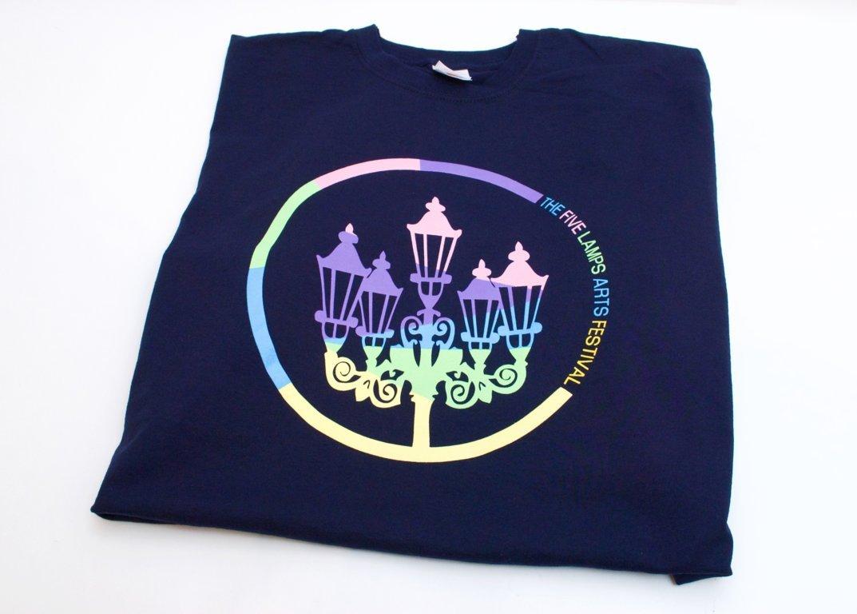 5 lamps t-shirt