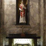 Valentine Statue at church in Dublin, Ireland