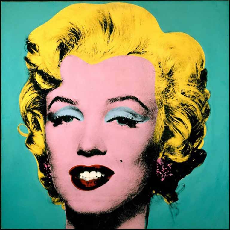 Screen print of Marilyn Monroe