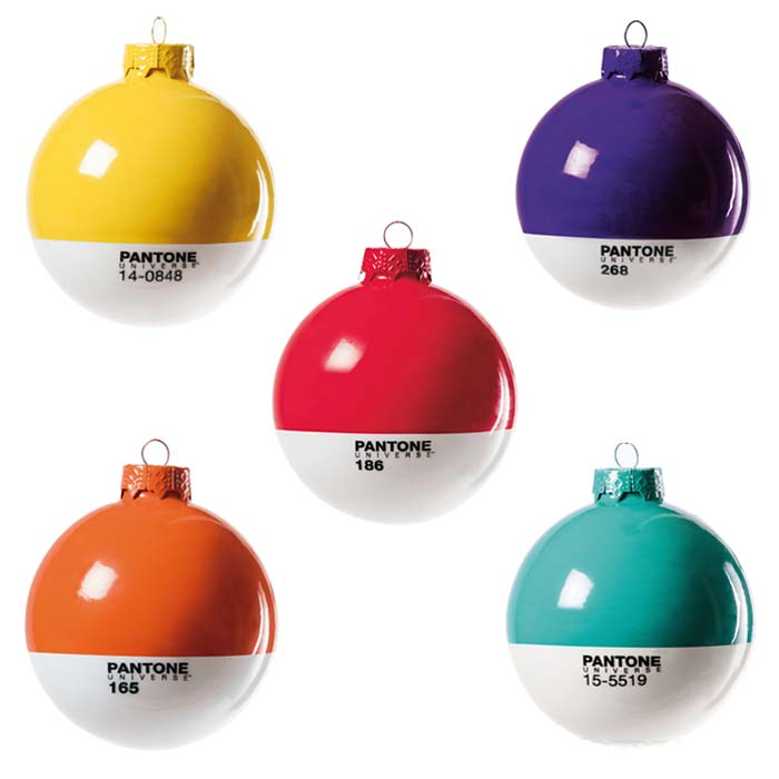 Pantone Christmas tree baubles