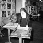 Nun screenprinting